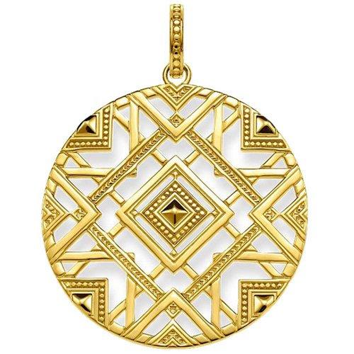 THOMAS SABO Damen-Anhänger Afrika Ornamente Silber vergoldet - PE744-413-39