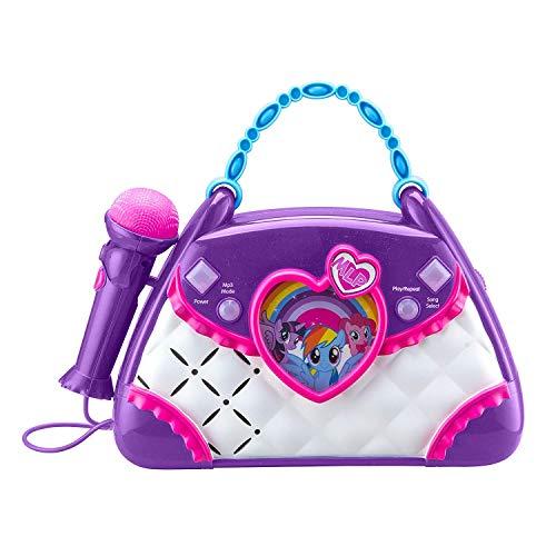 ekids ML-115 My Little Pony Karaoke Boombox met microfoon en AUX-in aansluiting voor kinderen vanaf 3 jaar, lila