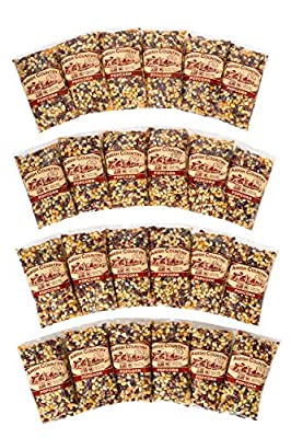 Amish Country Popcorn Rainbow Unique Blend - Old Fashioned, Non GMO, Gluten Free, Microwaveable, Stovetop and Air Popper Friendly with Recipe Guide