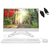 HP Pavilion 22 Flagship All in One Desktop 21.5' FHD IPS Display 8th Intel Celeron G4900T (Beats i3-2120T) 4GB DDR4 1TB HDD WiFi DVD Webcam Mouse and Keyboard Win 10 (RENEWED) + iCarp HDMI Cable