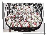 XiYou Muebles de jardín Cojines para sillas Muebles para Patio al Aire Libre Cesta Colgante de Mimbre Silla Columpio Sillón con Forma de Huevo con lágrimas Amortiguación (Rojo)