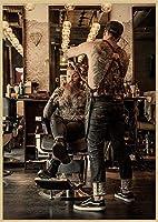 タトゥー理髪店大人のための5Dダイヤモンド塗装キットフルドリル、ダイヤモンドアートラインストーン刺繡クロスステッチクラフト装飾(正方形50x60cm)でペイント
