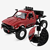 Wghz 1/12 Giant RC Semi-Truck 4WD Crawlers Chariot 4x4 RTR Car Driving Car Double Motors Drive Big Foot Car Control Remoto Modelo de automóvil Vehículo Todoterreno Juguete Educativo para niños Ni