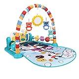 Baby Gym Jungle Jungle Musical Play Mats Bebé grande Play Gym Mat Mat Toys Toys Floil Kick and Pedal Piano Luces de música y sonidos Juguetes para bebés y niños pequeños de 0 a 6 12 meses de edad
