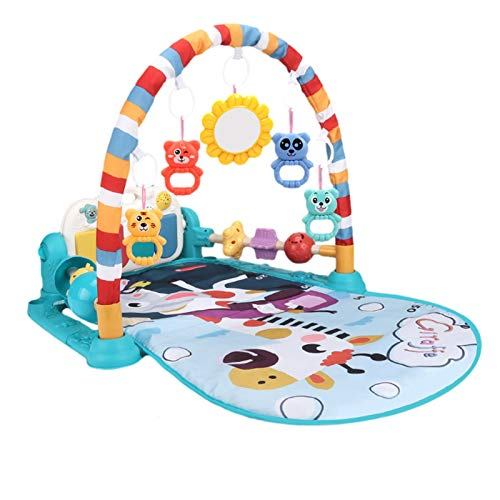 Xuanshengjia Baby Activity Play Mat, Infant Indoor with Music & Lights Activity Gym, Tummy Time Mat For 3, 6, 9, 12, 18 Months, Age 1, 2 Year Olds, Newborn, Baby Boys, Baby Girls, Toddlers