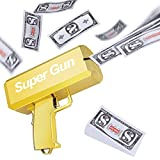 LEOKKARR Gold Money Gun Shooter, Toy Guns That Look Real, Prop Gun Cash Cannon for Game Movies Party Supplies with Play Money 100 Dollar Bills