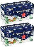 Ebersbacher Kerzenfabrik GmbH EWA raumbox Kerzen PYRAMIDENKERZEN rot für Advents- & Weihnachtspyramiden | 100 Stück