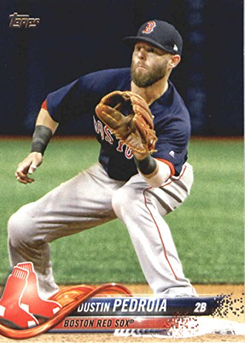2018 Topps Series 2#439 Dustin Pedroia Boston Red Sox Baseball Card - GOTBASEBALLCARDS
