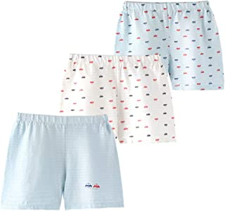 JanLEESi Baby Shorts Toddler Boys Slub Cotton Small Pants 3-Pack