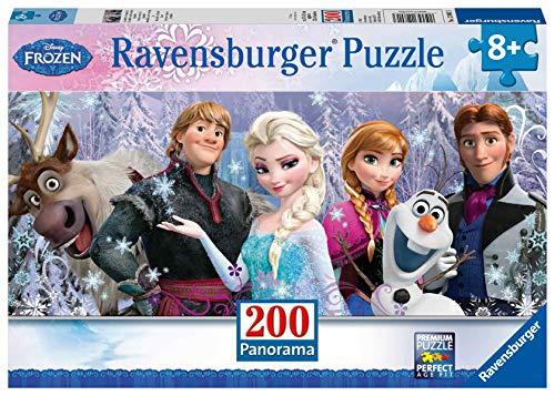 Ravensburger Italy- Puzzle Panorama Frozen, 200 Pezzi, 12801