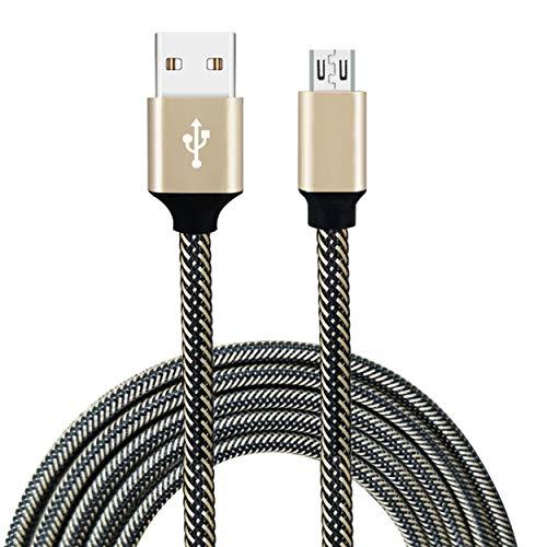 Lodenlli Cable de Carga del Cargador de sincronización de Datos Micro USB Trenzado de Nailon 3A para Samsung Galaxy para Xiaomi para Huawei