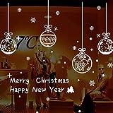 heekpek Schneeflocken Fensterdeko Weihnachten Statische Fensteraufkleber für Fenster Fensterbild Weihnachtsfensterbilder Weihnachtsdeko Fensterbilder Fensterfolie PVC Aufkleber (A)