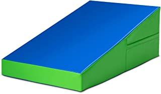 Giantex Incline Gymnastics Mat, Folding and Non-Folding Gymnastics Cheese Wedge Mat, Multiple Size Gym Fitness Skill Shape Tumbling Mat for Kids Play, Home Exercise, Aerobics