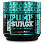 PUMPSURGE Caffeine-Free Pump & Nootropic Pre Workout Supplement, Non Stimulant Preworkout Powder & Nitric Oxide Booster,20 Servings, Cherry Limeade, 9.2 OZ