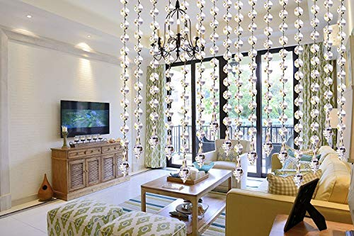 10 x 1m tenda della porta acrilico cristallo ghirlanda perline Octagonal decorazione fai da te matrimoni ghirlande di perle da appendere per decorere ciò che vorrete (con pendente affusolato)