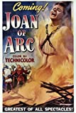 Poster Ingrid Bergman in Joan of Arc Burning at Stake 60 x