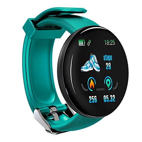 KawKaw DX Smartwatch für Damen Herren und Kinder mit Schlaftracker Kalorienzähler Schrittzähler Pulsuhr Health Watch Activity Tracker mit Touchfunktion Fitness Armband Uhr für iOS & Android (Grün)