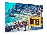 weewado Playa del Hotel 30x20 cm Impresion en Lienzo - Muro de Arte - Canvas, Cuadro, Poster - City Trip & Travel