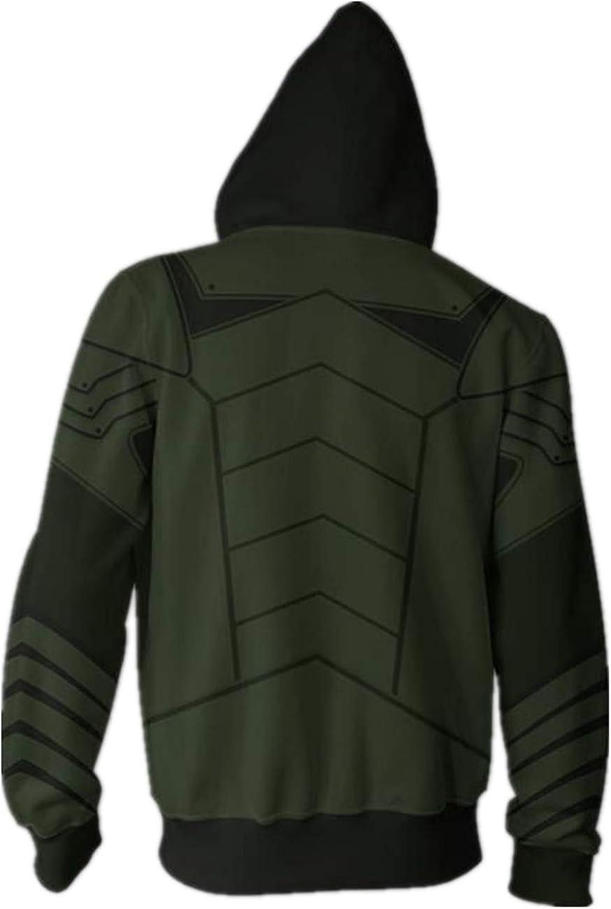 The green arrow Oliver Queen Herren Sweatshirt jacke Kapuzen-pullover Kostüme