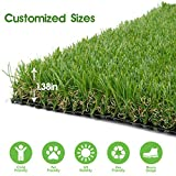 Realistic Thick Artificial Grass Turf -Indoor Outdoor Garden Lawn Landscape...