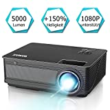 Beamer, WiMiUS P18[Update Version] 5000 Lumen Heimkino Projektor, 4000:1 Kontrast, Native 1280x800P Full HD 1080P untersttzt, HDMI VGA AV USB Kompatibel mit Amazon Fire TV Stick / Laptop / Mobil usw.