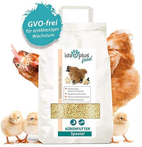Ida Plus – Kükenfutter Spezial – Aufzuchtfutter mit hochwertiger Zusammensetzung für Hühner-Küken – Kükenstarter für exzellentes Wachstum & Perfekter Akzeptanz – GVO-Frei 5 Kg