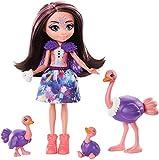 Enchantimals Savane Ensoleillée coffret Famille avec mini-poupée Ofelia Autruche et 3 figurines autruchon, jouet pour enfant, GTM32