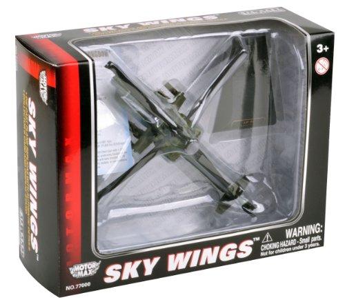Richmond Toys 1: 100 Schaal Sky Wings Modern Boeing AH-64 D Apache Longbow Helikopter spuitgietmodel met authentieke details