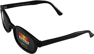 Pacific coast sunglasses Original X-KD's Biker Shades 20% Larger Black Frames Polarized Grey Lens