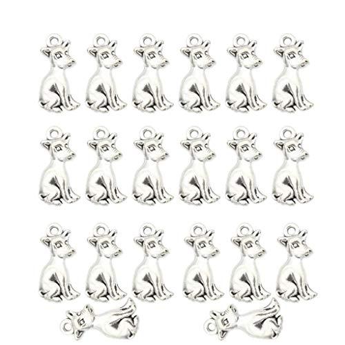 Milageto 20 Encantos para Hombre Wolfhound para Collar, Pulsera, Llaveros, Hallazgos