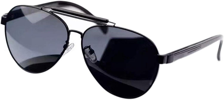Casual Fishing Driving Pliot Sunglasses with Polarized Lens for Women Men Sunglasses (color   Black Frame Black)