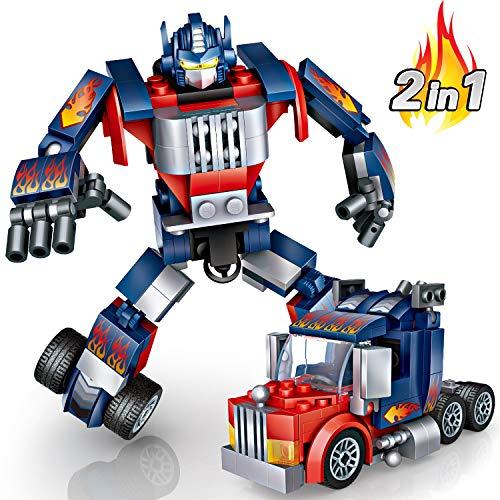 Baustein Roboter Spielzeug, joylink Gebäude Konstruktionsspielzeug Robot Kits STEM Spielzeugen Roboter auto Lernspielzeug Baukasten Pädagogisches Geschenk für Kinder Jungen und Mädchen (Blau)