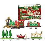 asterisknewly Set Treno Elettrico,Trenino Elettrico per Bambini Treno Classico Toy Set Natale Electric Train Toy Set per Bambini Early Education