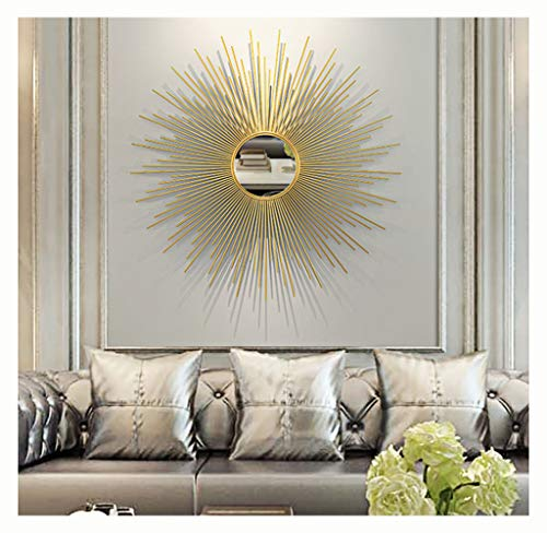 Round sunburst Wall Mirrors for living room large round mirror gold Decorative Wall Mountable Shabby Chic Home Decor wall mirrors for hallway