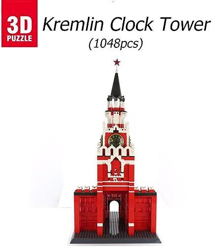 asdfgh Kreml Glockenturm,3D-Modell Puzzle BAU Eines Modell Puzzle Puzzle 3D,Geschenke Und Andenken Für Erwachsene Und Kinder,Es Ist Auch Sehr Sch  Den Raum Damit Zu Schmücken