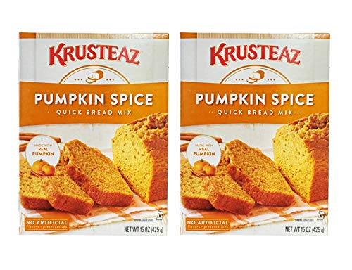 Krusteaz Pumpkin Spice Quick Bread Supreme Mix (Two Pack) 15 Oz Boxes