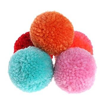 Koobysix Lot de 5 balles en peluche pour chat - Jouet interactif et doux - Couleur bonbon