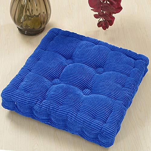 WATCBQ - Cojín portátil para silla de oficina, diseño de corncob y tatami, color azul marino, 48 x 48 cm, 4 unidades