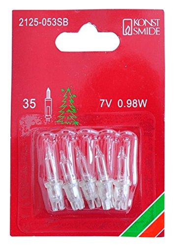 Konstsmide 2125-053SB Ersatzbirne / für Minilichterketten / 7V, 0,98W / 5er Blister / transparente Steckfassung