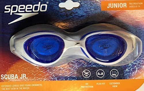 Speedo Scuba Jr. Junior Goggles: Blue and White