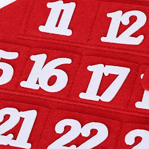 Bediffer Calendario de Navidad montado en la pared resistente al desgaste creativo para decoraciones de Navidad del hogar (árbol de Navidad)