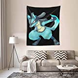 KJJO Lucario Wall Tapestry with Art Nature Home Decorations for Living Room Bedroom Dorm Decor in 60x51 Inches