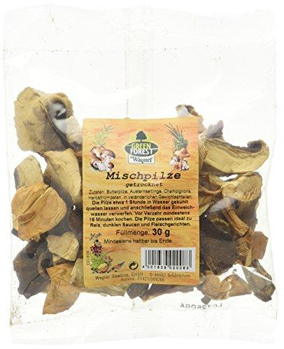 Wagner Green Forest getrocknete Mischpilze im 1er Pack (1 x 30 g) - ein aromatischer Mix aus Butterpilzen, Austernseitlingen, Champignons und Herbsttrompeten