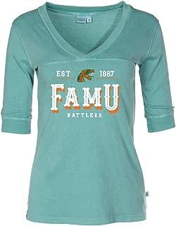 Official NCAA FAMU Rattlers - RYLFAM12 Women's 3/4 Sleeve Fitted Football Tee Shirt