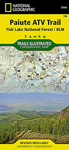 Paiute ATV Trail [Fish Lake National Forest, BLM] (National Geographic Trails Illustrated Map, 708)