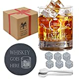 60th Birthday Gifts for Men - 1961 Whiskey Glass Gift Boxed Set - Funny Whiskey Gifts, Anniversary, Fathers Day, Retirement Gifts for 60 Year Old Men, Grandfather, Son, Dad, Husband, Friends