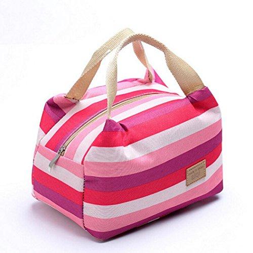 Coloré(TM) Sac Repas Lunch Bag Sac à Déjeuner Isotherme Pique-nique isolé alimentaire Storage Zipper Box Fourre-tout Bento Pouch Lunch Bag