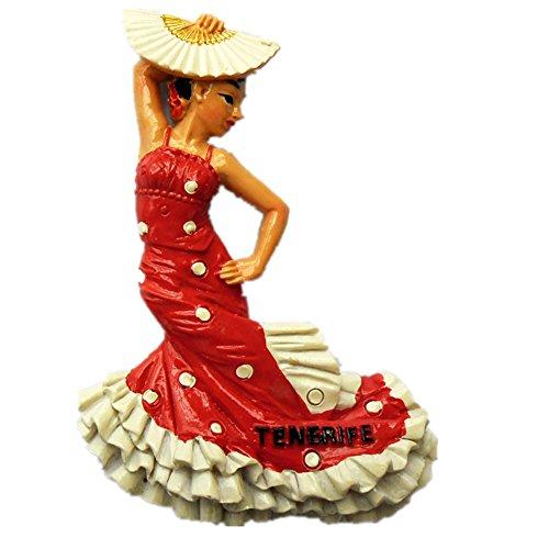 3D Flamenco Dance Spanien Souvenir Kühlschrank Magnet, Home & Küche Dekoration Flamenco Dance Spanien Kühlschrank Magnet