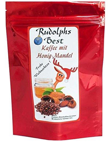 Aromakaffee - Aromatisierter Kaffee - Rudolph's Best Honig-Mandel - Gemahlen 1000g - Spitzenkaffee - Schonend Und Frisch In Eigener Rösterei Geröstet