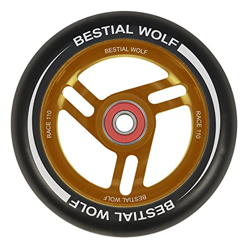 Bestial Wolf Race Rad für Scooter Freestyle, Durchmesser 110 mm, orange
